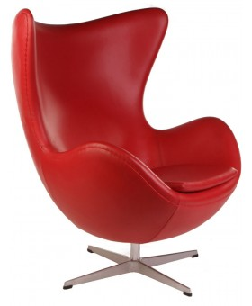 Arne Jacobsen Style Egg Chair кожа